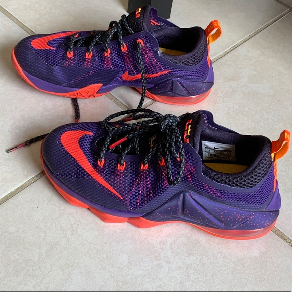 purple and orange lebrons